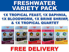 BCUK 100G FROZEN FISH FOOD - FRESHWATER MIX/VARIETY 5x 100G PACKS