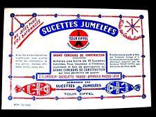 Ancien Buvard Sucettes Jumelées Concours Tour Eiffel Paris