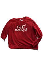 Women Xhilaration Long Ruffle Sleeve Scoop Neck Lightweight Sweatshirt XL