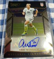 Abby Wambach Autograph Panini Signatures Soccer Card 2017-2018 USA English NM-EX