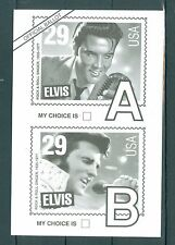 US Ballot Postcard vote for picture of Elvis canceled 1992 greenville SC. 19c