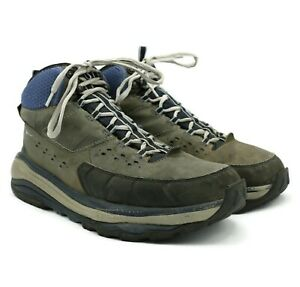 Hoka One One WOMEN'S Gray Leather Tor Summit Mid WP Hiking Boots Size 10.5 US