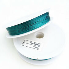 Wholesale 100 Meter (1roll)   Peacock green  Tiger Tail Beading Wire/0.38