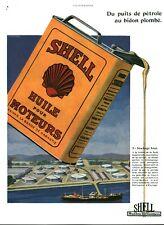 Publicité ancienne Shell huile pour moteurs 1930 issue de magazine