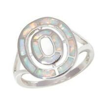 """GORGEOUS WHITE FIRE OPAL  RING UK Size """"M"""" US 6.5"""