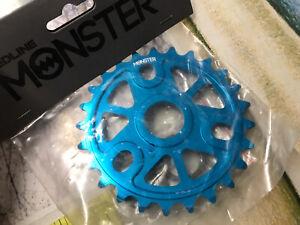 "RL fit gt haro 25t 1/8"" BMX Bike Chainring 6061 Alloy Blue 19 22 24mm NEW"