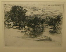 SEYMOUR HADEN 'The House of Smith' NEWCASTLE EMLYN Etching 1864 framed English