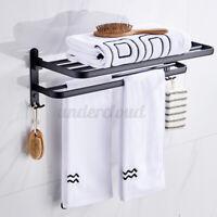 Wall Mount Towel Racks Holder Hanger Bar Shelf Rail Storage Shower Organizer