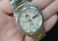 Vintage Orient crystal 3 AAA automatic watch men 21 jewels 469 (original) 90's