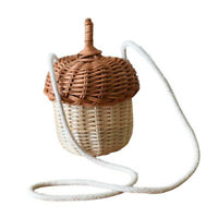 Womens Vintage Style Rattan Handbag Handmade Tote Weave Purse Straw Bag Beach