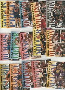 90'S INSERTS LOT (15/20) 1993-94 FLEER NBA SUPERSTARS BARKLEY MALONE HAKEEM DROB