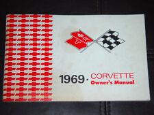 1969 Corvette Factory GM Original Owners Manual w/ Full Corvette News Card N/Mnt