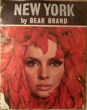 """Vintage New York Bear Brand RHT Nylon Stockings 10.5 fits 37"""" Long Copper Bronze"""