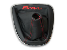 FIAT BRAVO 2 II 2007-2014 FUNDA PALANCA DE CAMBIOS BORDADO HILO ROJO