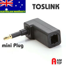 Optical Audio CableToslink to 3.5mm mini Toslink Converter Right Angle Adapter