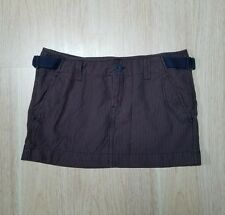 Aeropostale Casual Skirt 11 12 L Brown Striped Belted Strap Aero Women