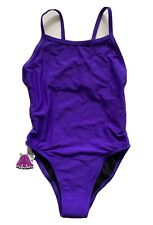 Jolyn One Piece Swimsuit - Fixed Back - Purple - Size 30 - NEW