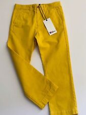 Boys Designer Yellow Chino Trousers Age12-18   ABC123me  New WithTags RRP£39.00