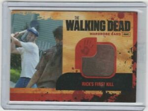 WALKING DEAD SEASON 1 RICK GRIMES WARDROBE CARD #M18   BINDER EXCLUSIVE!