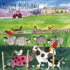 Alex Clark 'On The Farm' Animal Birthday Card - FREE UK POSTAGE!