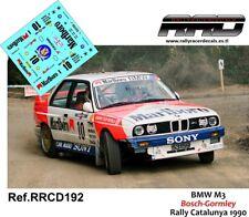DECAL/CALCA 1/43; BMW M3; Bosch-Gormley; Rally Catalunya 1990