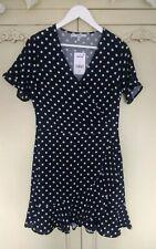 Black & White Polka Dot Next Dress Size 10 New RRP £35 Occasion Races