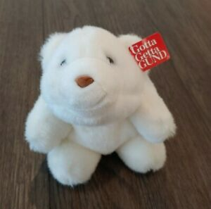 "Gund NEW Baby Snuffles White 7"" Plush Stuffed Polar Bear 40814 NEW WITH TAGS"