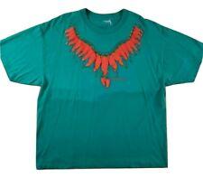 Vintage Albuquerque Mens T Shirt Tee Tamale Pepper Teal 1995 Elron Single Stitch