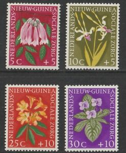 Netherlands New Guinea: 1959. SG63/6, 5c + 5c to 30c + 10c Flowers. MNH As photo