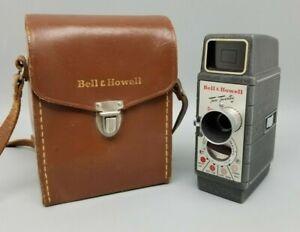 Vintage Bell & Howell Two Twenty 8mm Movie Film Video Camera w/Case RUNS! w