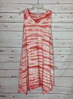 J.Jill Pure Women's XS Extra Small Pink White Tie Dye Sleeveless Spring Dress