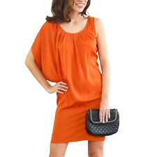 One shoulder MINI KLEID Gr.34/36 XS/S ORANGE Satin elegant fließend Cocktail