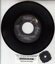 "ALABAMA  Roll On (Eighteen Wheeler) 7"" 45 rpm record NEW + jukebox title strip"