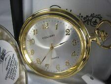 Colibri Silver & Gold Engravable Pocket Watch PWS95936W
