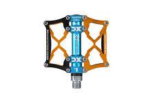 ROCKBROS BMX MTB Road Bike Aluminum Alloy 9/16'' Spindle Platform Pedals Golden