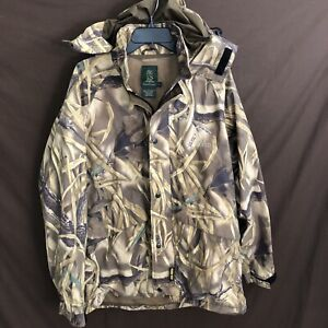 DUCKS UNLIMITED MENS Camo GORE-TEX Jacket Hood Wetlands Large