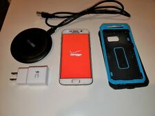Samsung Galaxy S6 Edge 32GB Wireless Pad + Case + ScreenProtector VERIZON