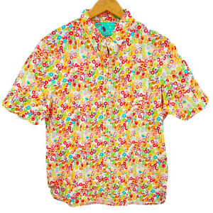 Chubbies Mens Short Sleeve Shirt The Tooty Fruity Nutter Button Up Popover New