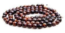 4mm Round Red Natural Tiger's-eye Gemstone Beads for Jewelry Making Strand 15""