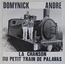 Pochette Train 45 tours Domynick André La chanson du petit train de Palavas