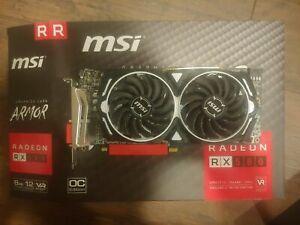 MSI Radeon RX 580 8GB GDDR5 Graphics Card (RX580ARMOR8GOC)
