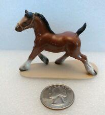 Miniature Figurine Gallop Brown Horse / Pony Model by Hagen-Renaker on Base
