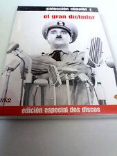 """DVD """"EL GRAN DICTADOR"""" 2DVD COMO NUEVO DIGIPACK CHARLES CHAPLIN EDICION ESPECIAL"""