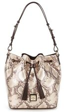 Dooney & Bourke Kitney Collection Serena Tasseled Snake Drawstring Bag NWT $278