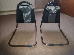 Pair of lightweight adult bed guards - Used but good condition - grey and black