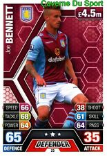 025 JOE BENNETT ENGLAND ASTON VILLA CARD MATCH ATTAX PREMIER LEAGUE 2014 TOPPS