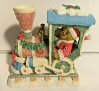 Ultra Rare Cherished Teddies 116470 Christmas Train Engine Bear Engineer HTF z