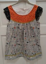 Matilda Jane Platinum Halloween Happy Haunts Top Size 14 RARE NWOT