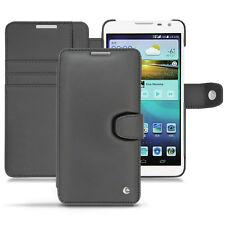 Noreve Luxury B negro genuino cuero Libro Funda Para Huawei Ascend Mate 2