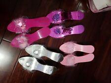 Nwt Princess Dress Up Shoes 4 Pairs Girls Pink Purple Silver Fuschia